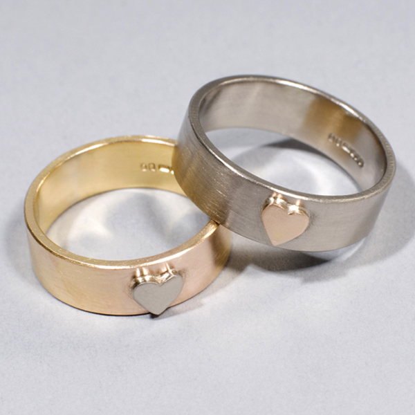 Bespoke jewellery in silver gold in sheffield heart wedding rings commission junglespirit Image collections