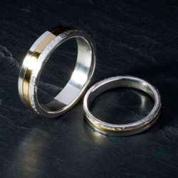 Bespoke gold and silver wedding rings