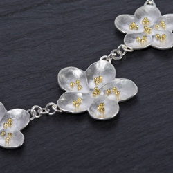crab apple blossom necklace