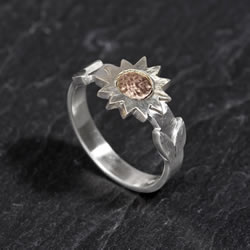 Poppy gold ring commission