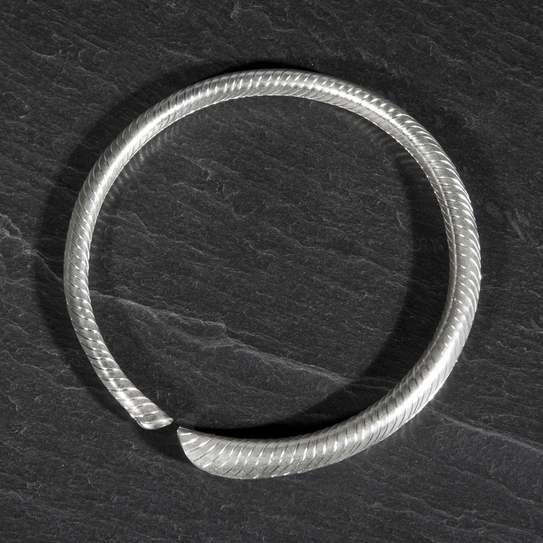Frond Argentium Silver Torc