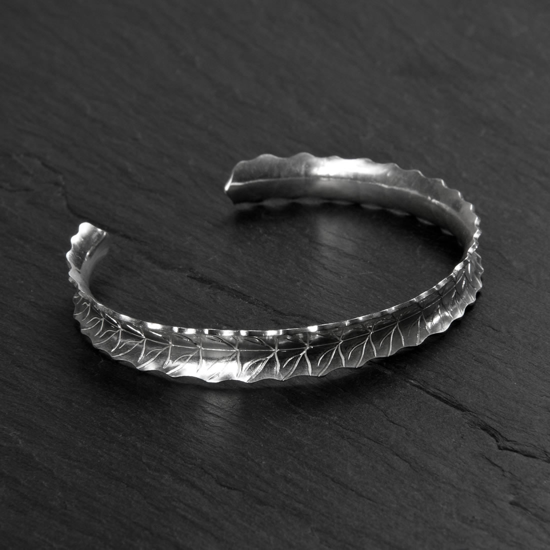 Fern Argentium Silver Bangle