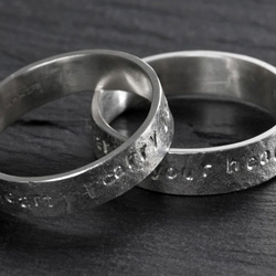 bespoke commitment rings in Argentium silver