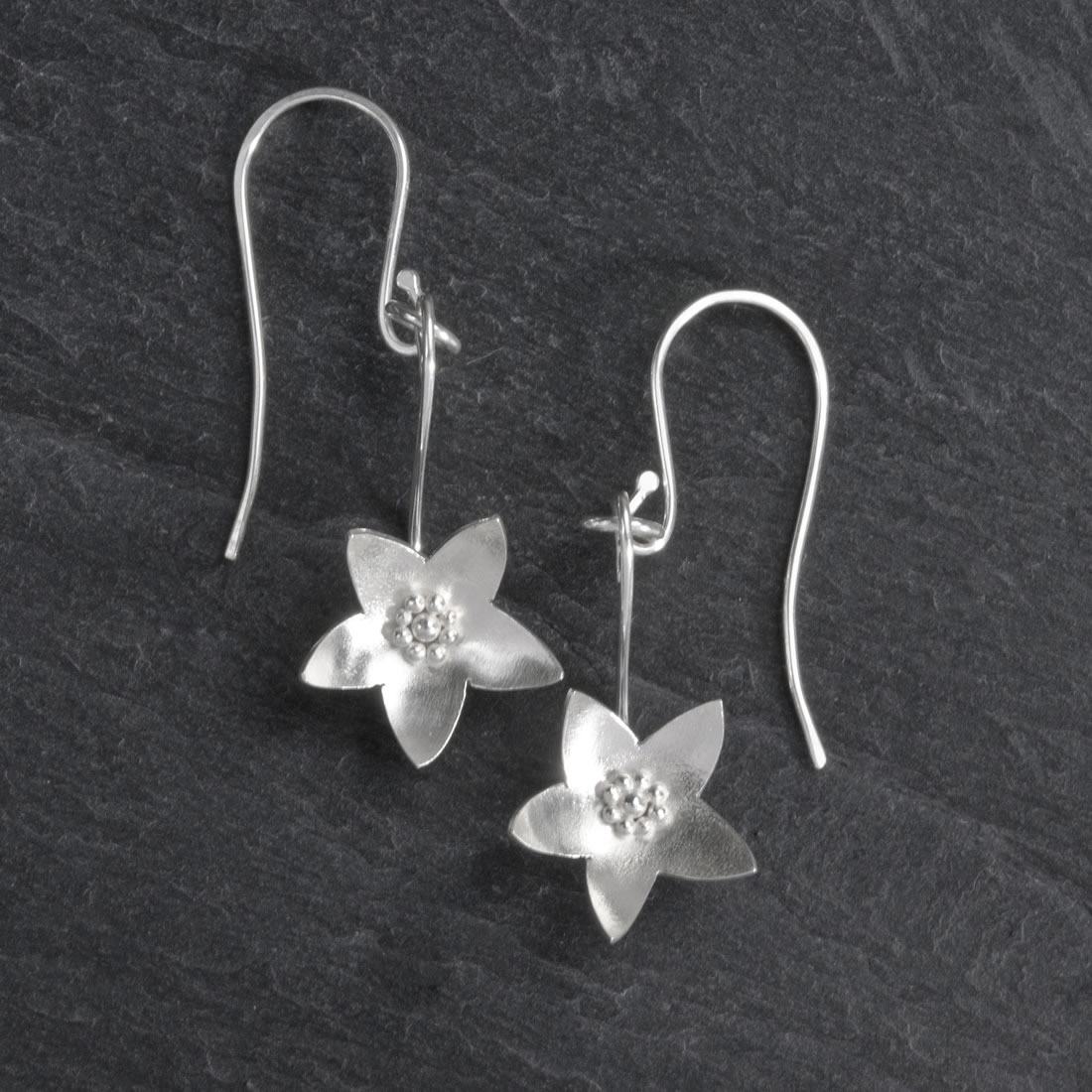 Botanicals Argentium Silver Campanula Earrings