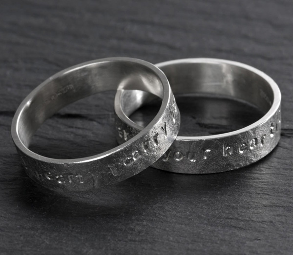Argentium Silver Commitment Rings Commission