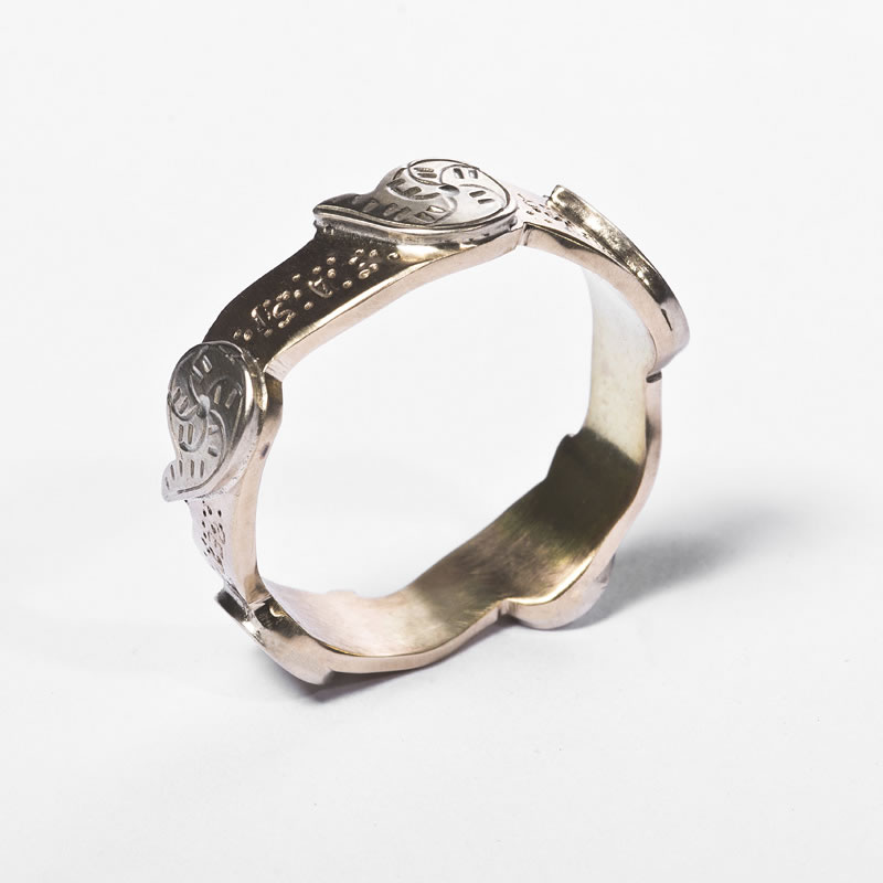 Fern Ring in Yellow & White Gold
