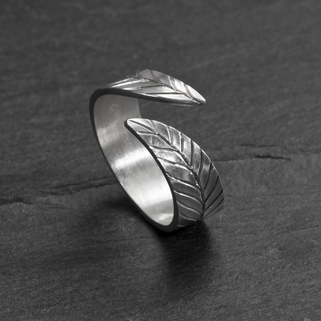 Frond Argentium Silver Ring