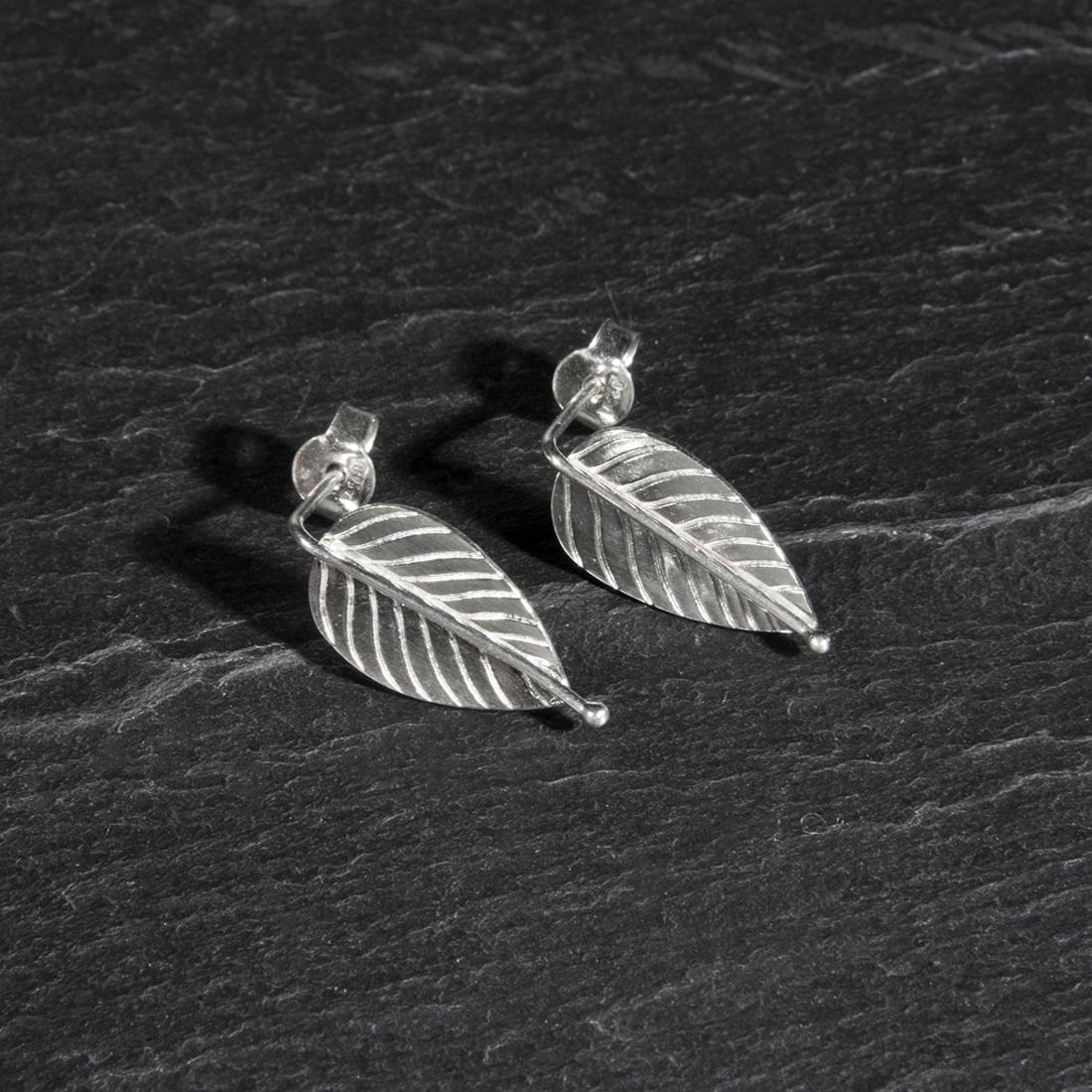 Frond Argentium Silver Studs