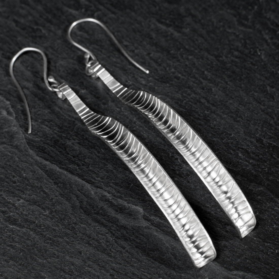 Ripple Argentium Silver Earrings