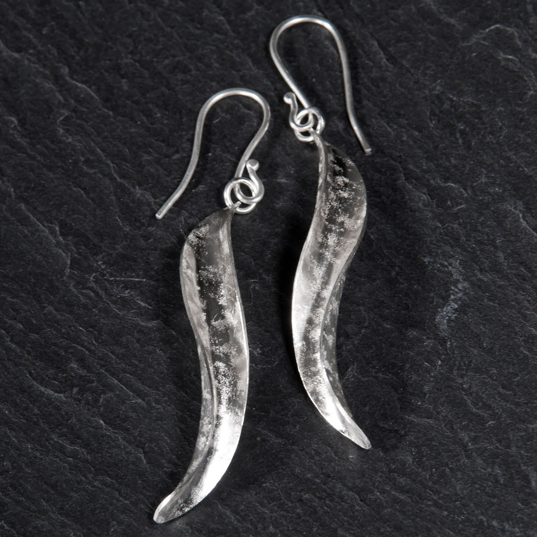 Rockhammer Argentium Silver Earrings